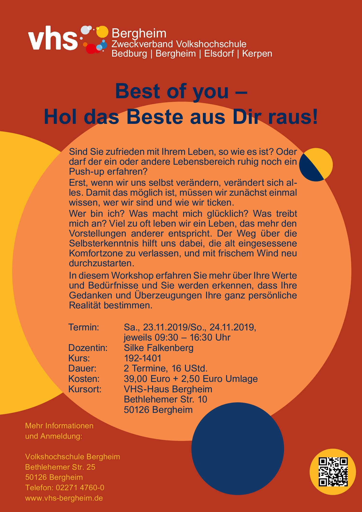 Workshop – BEST OF YOU – jetzt im vhs Format